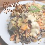 vegan blackbean spaghetti