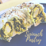 vegan spinach pastry